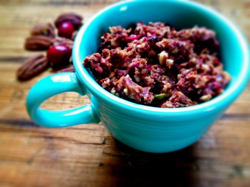 grain free cranberry pear granola