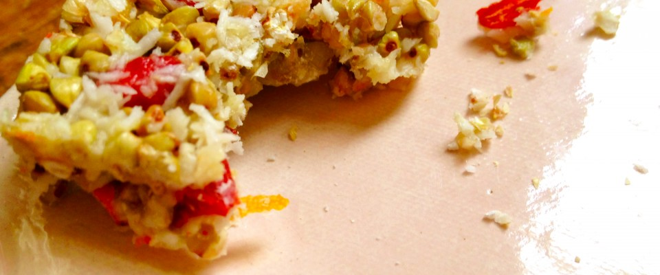 goji berry orange zest protein bars