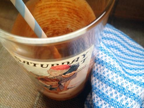 chocolate dairy-free protein milkshake