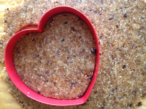 valentine's day raw vegan chocolate chip heart cookiesJPG