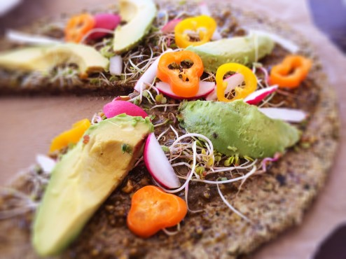 raw vegan wheat and gluten free veggie pizza recipe