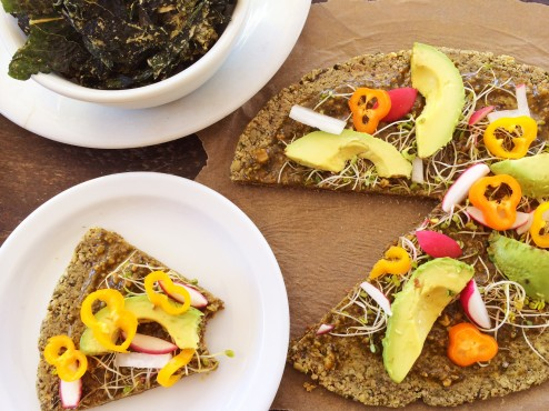 raw vegan wheat and gluten free veggie pizza1 recipe